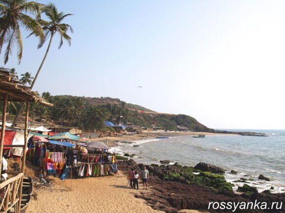 Пляж Анжуна Гоа 14